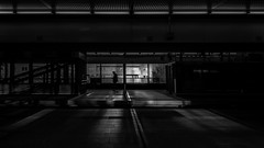 ...connected... (*ines_maria) Tags: vienna wien austria city urban subway station sunset light sun contrast people street streetphotography bw blancetnoire blackandwhite mono monochrome panasonicdmcgx8 silhouette
