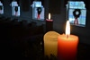 Candles in the Church (MTSOfan) Tags: candles christmas advent light solstice flames wicks sanctuary wreaths windows pews