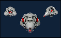 Toadian Dropship (Karf Oohlu) Tags: lego mnoc frogscale scifi dropship frog frogspace spaceship