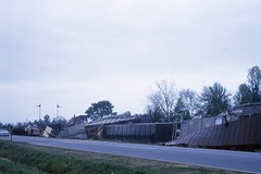 Train wreck - Leesburg, GA 1964 (Blake Bolinger) Tags: leesburg ga georgia train derailment derailed crash wreck 1964 1960s kodachrome