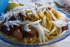 Haitian Spaghetti (Jesonis|Photography_On/Off (super busy)) Tags: haiti grandgoave caribbean canondslr canon35mmf14l haitianspaghetti onions hotdogs delicious foodie haitianfood travel travelfood cuisine haitiancuisine