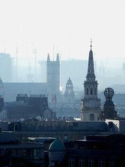 Shroud of mist (tezzer57) Tags: magicmoments stmartinsinthefields skyline smog mist fog westminsterabbey londoncoliseum london