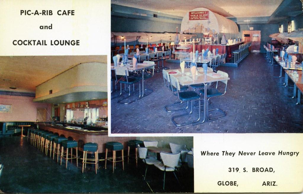 pic a rib cafe and cocktail lounge globe az edge and corner wear - Linoleum Restaurant Interior