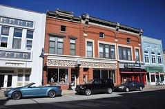 Pixelated (cmu chem prof) Tags: mountpleasant isabellacounty michigan circularpolarizer oldcommercialblock redbrick bluesky downtown