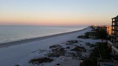 Post Lunar Eclipse Morning (Michel Curi) Tags: lunar eclipse moon sky beach sand surf water waves sunrise landscape madeirabeach treasureisland florida lovefl gulf gulfofmexico beachresort commodorebeachclub horizon clouds penumbral fullmoon dunes sanddunes