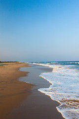 The Relation Between Sand and Woes (_Viky_) Tags: ocean travel sea india beach scenery waves foam pondicherry indiatravel puducherry