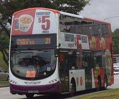 SBS3846H-Service 21(KFC Singapore KFC Everyday So Good $5 Meals) (SG Transport Pics) Tags: buses eclipse volvo ii transit kfc wright gemini weg sbs wrightbus b9tl