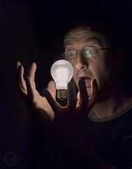 Bright Idea (2) (Erroba) Tags: lamp lightbulb canon idea belgium belgique magic belgi surreal floating led unreal erlend erroba robaye 5dmarkiii