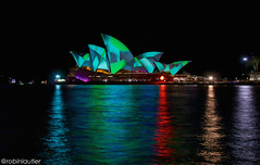 Vivid 2015 on Opera House (@robinlautier) Tags: city light colour night opera cityscape colours sydney australia operahouse australie