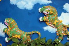 Green Tiger (Benn Gunn Baker) Tags: green art st bristol graffiti baker play view tiger arts marks trail artists area belle vue rd easton benn gunn bs5