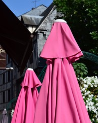 This season's fashionable color for burkas! (alcowp) Tags: france cafe sunshade parasol fra burka