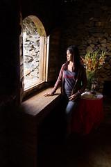 Mina at Hoyohoy_6553 (Richard Craig Smart) Tags: light shadow church window girl stone mystery philippines thinking pinay pondering hoyohoyhighlands