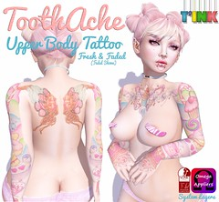 Tink Ad toothache (Princess Titty Sprinkles ) Tags: life pink girl cane tattoo tooth butterfly pie rainbow perfect cheery candy princess sweet chocolate teeth kitty lolly cupcake sprinkles glaze secondlife donuts icecream doughnut kawaii second sweets choco lollypop sucker suckers pinkness titty {tink}tattoo