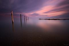 Seven (Tony N.) Tags: longexposure sunset sea mer france colors clouds europe couleurs nuages loire coucherdesoleil manfrotto piquet loireatlantique poselongue pieu d810 nd110 prfailles tonyn portmeleu nikkor1635f4 tonynunkovics