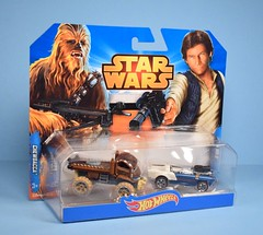 Hot Wheels Star Wars Chewbacca and Han Solo cars (FranMoff) Tags: starwars hansolo car chewbacca hotwheels chewie diecast