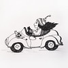 My driving experience - 12 year! (Annabelle Danchee) Tags: dancheeannabelle annabelledanchee dancheeannabellesketch paper pen ручка people creative art beautiful graphic graphics drawing draw illustration blackandwhite искусство искусствовмассы скетч шарж карикатура sketch friendlycartoons caricatures car