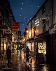 Cycle Lanes (amipal) Tags: brighton christmas city england europe gb greatbritain lights night rain sussex thelanes uk unitedkingdom urban wet