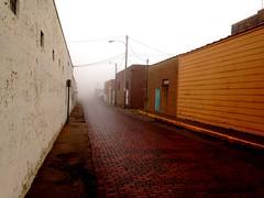 Foggy Alley (C. K. Hartman) Tags: desolate alley fog mist brickstreet