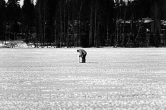 Iisalmi (Tuomo Lindfors) Tags: iisalmi suomi finland porovesi jää ice dxo filmpack myiisalmi blackandwhite