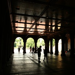 Central park (Svedek) Tags: usa newyorl nyc architecture square 500x500 silhouette reflection streetlife column