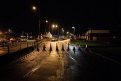 Road Block (Number Johnny 5) Tags: night tamron d750 nikon storm east surge block light shadows january 2017 road dark 20170113 cones gorleston anglia 2470mm norfolk flood