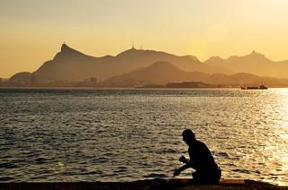 pescando com a melhor vista do mundo...