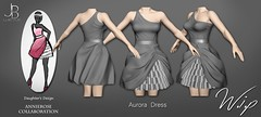 Work in Progress - Aurora Dress - an AnnieRose Collaboration (Just BECAUSE_SL) Tags: jb just because sl secondlife dress ruffles one shoulder assymetrical gathered fabric bunched poofy party wip work progress annierose collaboration daughter design fashion mesh waistband cocktail workinprogress