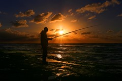 Fishing at sunset - Tel-Aviv beach (Lior. L) Tags: fishingatsunsettelavivbeach fishing sunset telaviv beach sea seascapes silhouette fisherman reflection clouds cloudysunset travel travelinisrael telavivbeach
