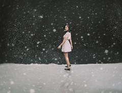 180/365 Impression on Snow (Katrina Y) Tags: snow surrealphotography conceptual flour selfportrait manipulation woman winter