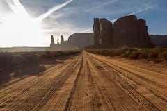 Diesel and dust (mfeingol) Tags: arizona navajo monumentvalley navajotribalpark road