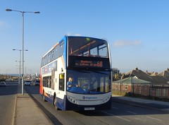PX59CSZ Stagecoach 15575 powers up Squires Gate Lane in Blackpool (j.a.sanderson) Tags: px59csz stagecoach powers up squires gate lane blackpool scania n230ud alexanderenviro400 registered new november 2009 ribble scanian230ud alexander enviro 400 bus buses