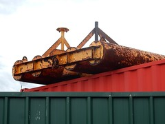 Heavy Rollers on Container (mikecogh) Tags: glenelg rollers container abstract rust