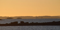 Mirage at sundown (Ib Aarmo) Tags: sea fjord islands mirage ship evening sunset outdoor nature