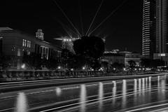 Night lights (elenaleong) Tags: sporeriver laserlights lighttrails boattrails bwtrails elenaleong reflections