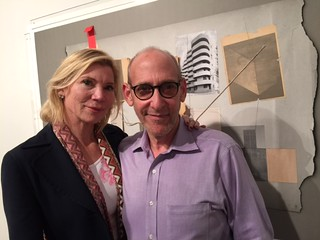 Ingrid Luhn and gallerist Fred Snitzer at the Maria Martinez Cañas opening