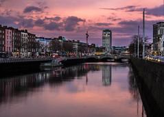 Sunset lights the sky over Dublin city. (Cian Reinhardt) Tags: sunset colour landscape dublin ireland cian reinhardt discover travel explore water river liffey urban city cityscape nature canon 6d 50mm