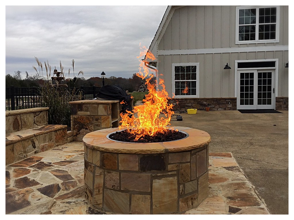 Custom Gas Fire Pit, Cleveland, Tn.