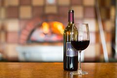 Hearth & Vine (Rudy Malmquist) Tags: city red black brick glass up fire star vineyard bottle wine michigan north traverse farms tasting peninsula cabernet sauvignon leelanau arcturos