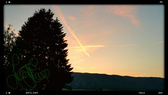 Sunset (Scorpion-66) Tags: tramonto montagna bosco stelle foresta piancansiglio samsungnote4