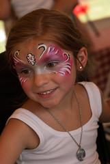 Skylar - Face Paint (IPlayHockey) Tags: pink pixie skylar facepaint june2015