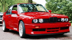 BMW E30 M3 (mister_hashtag) Tags: red car engine bmw vehicle modified tuner m3 coupe e30 s52