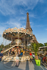 Paris June 2015 (7) 235 - Saturday night at the Eiffel Tower (Mark Schofield @ JB Schofield) Tags: street people paris france tower french ride roundabout saturday carousel eiffel stgermain