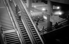 Caminhos (stmendes) Tags: urban white black branco brasil stairs canon subway angle preto sp escadas metr