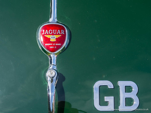Vintage car show Porthcawl 20150801- Jaguar boot