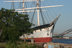 WAVERTREE in Staten Island, New York, USA. July, 2015 (Tom Turner - SeaTeamImages / AirTeamImages) Tags: nyc usa newyork heritage classic water museum port vintage harbor pier dock marine unitedstates harbour transport shoreline historic pony shore maritime southstreetseaport bow transportation preserved tallship statenisland docked masts drydock bigapple channel waterway sailingship wavertree kvk nationalregisterofhistoricplaces tomturner killvankull ironhulled caddells