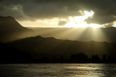 Copy of Kauai b&w56 (chiarina2016) Tags: kauai hawaii island beach monotone blackandwhite chiarinaloggia stormyseas waves trails hiking surf hanalei hanaleibeach sunset