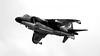 Sea Harrier FA.2. (spencer.wilmot) Tags: shar harrier seaharrier zh809 blackandwhite monochrome bw riat royalinternationalairtattoo display bae britishaerospace seaharrierfa2 ffd egva fairford fighter vtol verticalflight flying flypast plane aviation jet aircraft airplane militaryaviation 25years