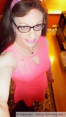 January 2017 (emilyproudley) Tags: crossdresser cd tv tvchix tranny trans transvestite transsexual tgirl tgirls convincing dress feminine girly cute pretty sexy transgender xdresser highheels gurl glasses indoor pink