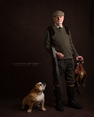 Robin & Dave (AGriggsy) Tags: british bulldog dog pheasants shooting shotgun gun gentleman man smart fine art hunting catch