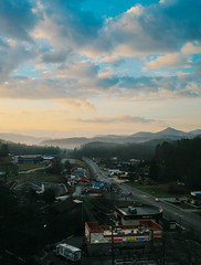 Sylva Sunrise (RyanHatton) Tags: sylva north carolina sunrise beaut beautiful aerial city town colors colorful color horizon landscape hdr cloudy blue mountains ridge